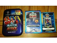 Match Attax 2017 Champions League cards including Limited Edition card and collectors tin.