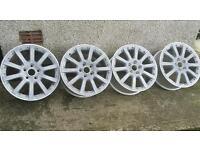 17 inch 5x112 genuine volkswagen alloys wheels