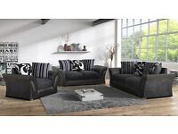 * Special Offer * SHANNON Large ITALIAN STYLE Corner OR 3+2 SEATER SOFA + 14 DAY CASH BACK GURNTY *
