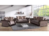 Shannon in BLACK/GREY or BROWN/MINK quality furniture sofa corner armchair swivel chair