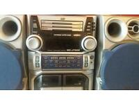 J V C CD and Tape recorder with speakers