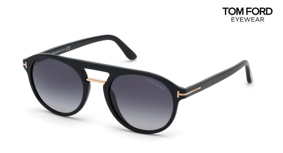 TOM FORD Sunglasses TF675 Ivan-02 01W Black Grey Blue Gradient RRP-£250