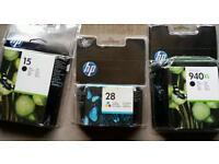 Selection of HP printer Cartridges