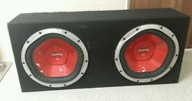 Car Hifi sony subqoofer bass box base and Kenwood amp also £1000w 1000w