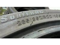 Four 285/35/22 tyres