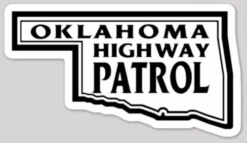 4 Inch Non-Reflective Oklahoma Highway Patrol State Police Logo Sticker Decal