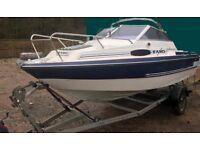 Fletcher Faro speed boat cruiser 50hp 4 stroke Yamaha 2007 galvanised braked trailer