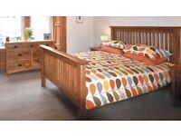 Suite of Solid Oak Bedroom Furniture for sale.
