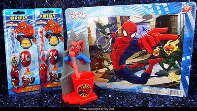 Spider-Man toothbrush holder & cup + summer camp travel kit +  jigsaw puzzle