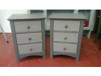 Shabby Chic Bedside tables x3 draw