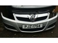 Vauxhall vectra front bumper silver z157