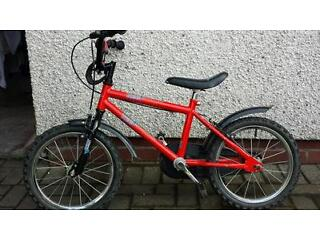 Kids bike to suit.ages 4 to 6