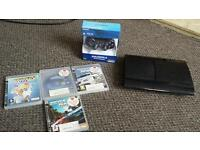 Sony PS3 500GB Super Slim + Four Games + Brand New Dualshock Controller