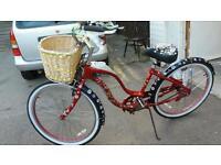 Ladys beautiful bike .