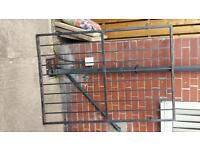 Steel security gate and window bars