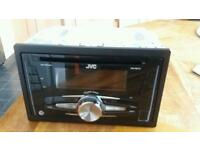 J V C double din CD RADIO unit