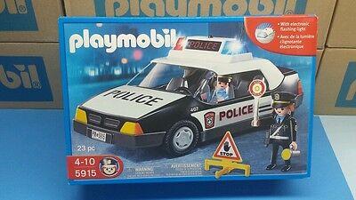 Playmobil 5915 police series Blue patrol car Vehicle Geobra toy NEW
