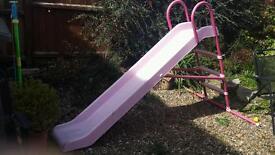 Chad Valley 7ft children's pink slide