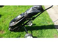 Howson golf set and trolley