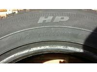 2 x Goodyear wrangler hp 235 55 17 (99v) tyres not used on road