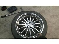 19 inch alloy wheels and tyres
