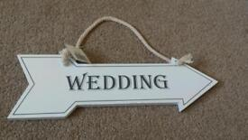 Assorted wedding decorations
