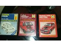Haynes manuals for TRANSIT-PREVIA-VECTRA