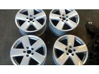 "Genuine 17"" Volkswagen audi seat skoda transporter a3 passat R Line a6 a4 toledo MINT alloys 5x112"