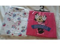 Girls pajamas age 5-6 brand new 2 pairs