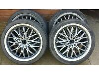 18 inch multistud alloys with tyres
