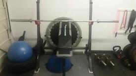 Bench.squat rack.6' Olympic barbell
