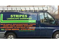 Stripes Gardening 07764 888828 driveways jet-washed weed treatment then resanded