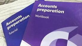 Accounts preparation work book and tutorial by David Cox