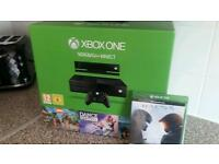 Xbox one console 500g with kinect and games