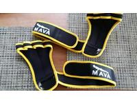Brand new leather weight training gloves xl