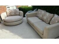 Harveys sofa and swivel chair