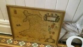 Framed map of Wales Now £10
