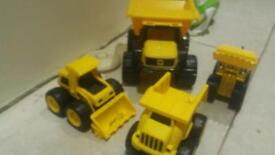 Jcb and CAT trucks