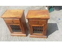 Indonesia rosewood bed side lockers