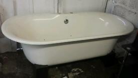 Roll top bath sink and toilet, reduced