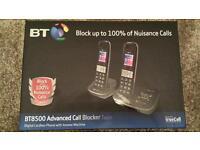 Brand new in box BT call blocker dual handsets