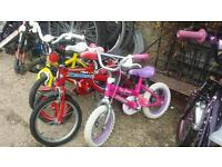 Loads and loads of kids children ladies mens bicycles for sale