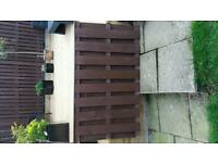2 wooden fence panels