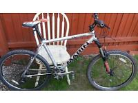 Marin rocky rigde mountain bike polished alloy so its as light as a feather