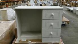 White dressing Table with 3 drawers