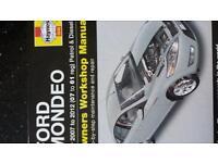 Ford mondeo workshop manual 07-12