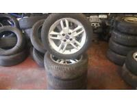 Set of fiat punto wheels with good tyres