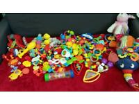 Baby toys, rattles teethers LARGE BUNDLE
