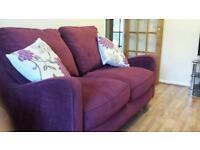 Deep plum large 2 seater sofa from next