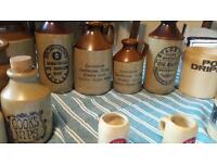 Old beer bottles and various jars